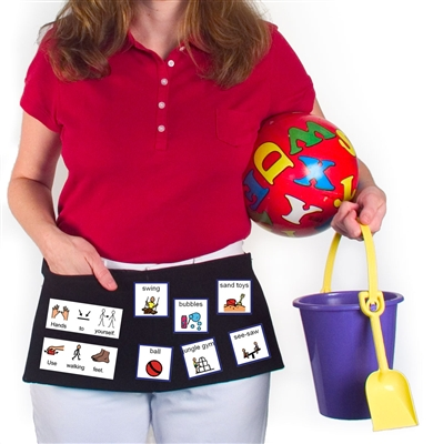 Visual Aid Waist Apron From Augmentative Resources